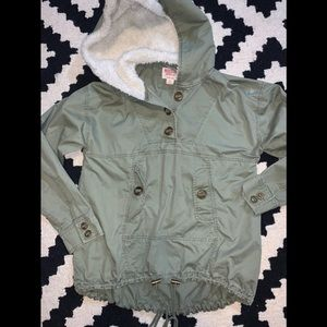 Target green utility jacket size small